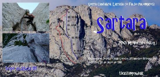 """Itinerario aproximado de """"Sartara"""" desde Laguardia, junto a """"Operación Truño"""""""