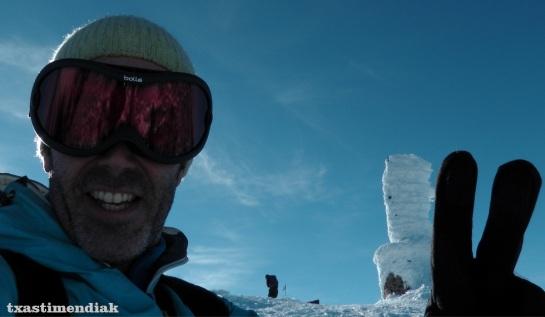 En la cima de San Lorenzo (2.271 m)