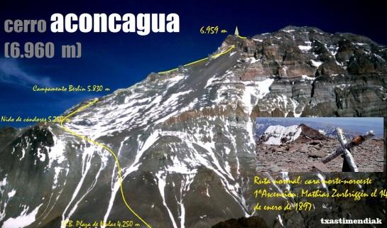 Panorámica del Aconcagua desde nuestro ascenso posterior al Cerro Catedral de 5.290 m