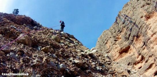 Llegada a la cima del Frechín...