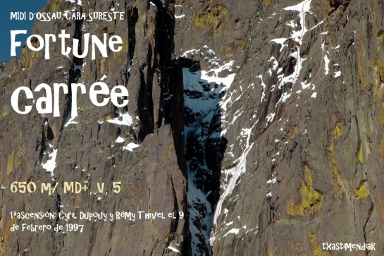 Vista lejana de la Fortune en otra temporada 2010, durante una salida a la vertiente norte...