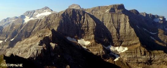 Vista de los Astazous desde nuestra visita al macizo de la Munia