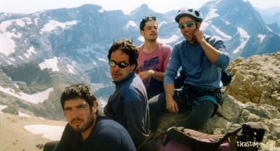Martin detrás de la cámara y 3 grandes amigos (Txitxo, Amado y Joni...y txasti)