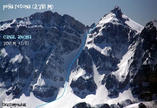 Vista de Peña Retona desde la cima del Pic de Soques...