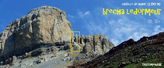 Panorámica de la vertiente sureste con la brecha Ledormeur