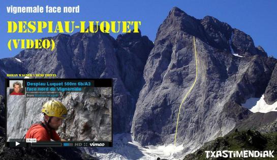 Trazado aproximado de la Despiau-Luquet