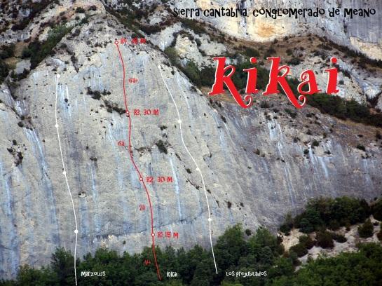 """El conglomerado de Meano con el itinerario aproximado de """"Kikai"""""""