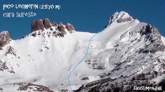 La vertiente este del pico Lecherín desde la cabaña Gabardito