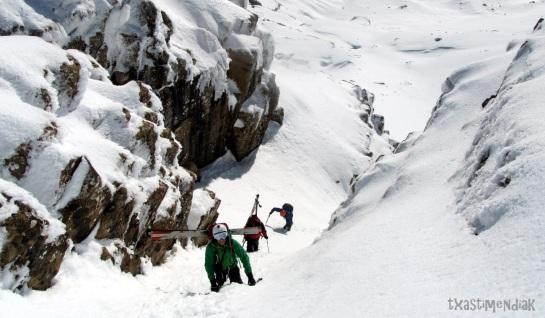 Últimos metros para llegar a la cima...
