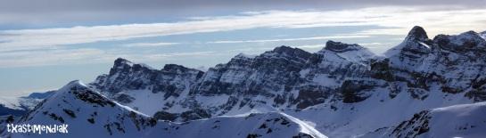 Vistas impresionantes hacia Partacua desde la cima...