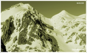 Vertiente este del Alto de Fetás desde la vertiente norte del Bernera