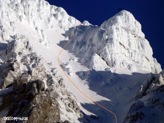 detalle del descenso por el Callejo Grande...