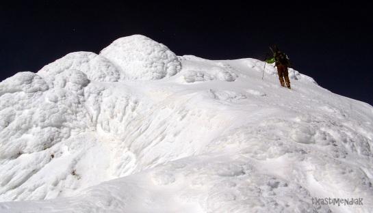 Ambiente patagónico en la cima del Fetás...