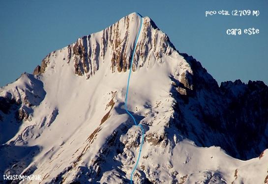 El Pico Otal visto desde el Puerto de Bujaruelo en 2004, camino de la norte del Taillon