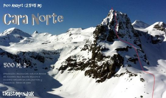 La cara norte del Pico Anayet desde la estación de Formigal...