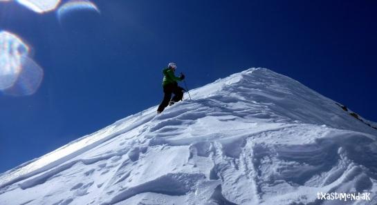 La cima del Pico Otal queda a un paso...
