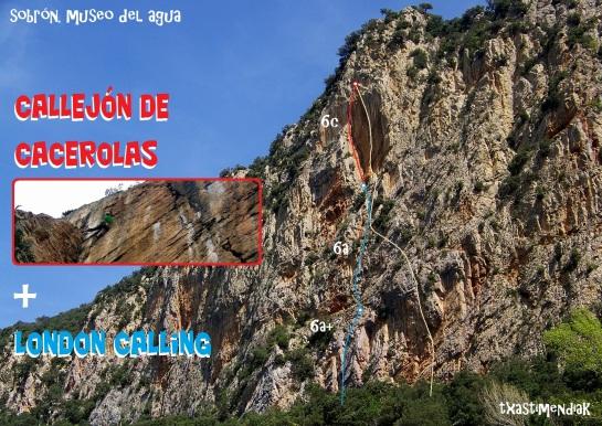 "La pared del sector ""Museo del Agua"" con la línea de esta mañana..."