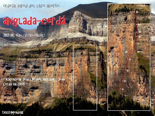 """Desde la """"faja de Pelay"""" el itinerario de la Anglada-Cerdá se aprecia en su verdadera magnitud..."""