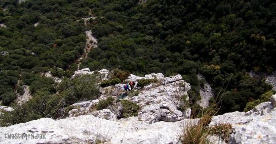 Desde la cima de la Aguja de Berberana...