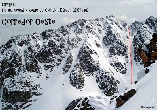 Panorámica de la vertiente oeste del Pic Allemand