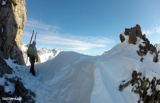 Al fondo el Pic de Quatre Termes...