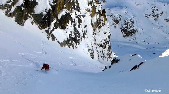 Una delicia de descenso en un día frío...