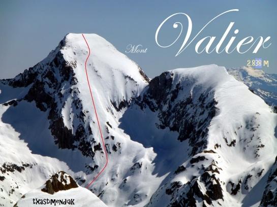 La vertiente suroeste del Mont Valier vista desde la cima del Barlonguera (foto Xabier Gatón)