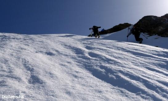 En la primera parte de la ascensión al Mont Valier...