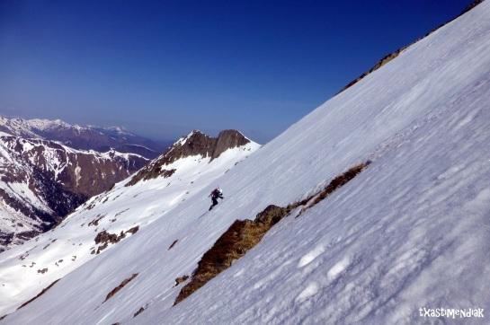 Amplitud en la cara sw del Mont Valier...