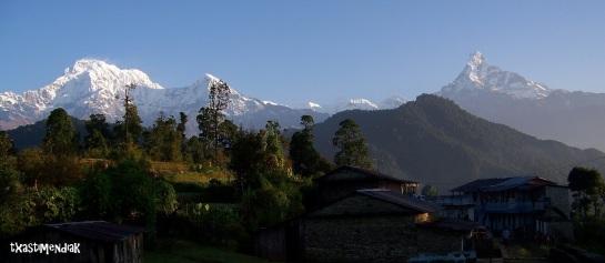 Durante las primeras etapas de nuestro treeking de camino al Base Camp Annapurna (South)