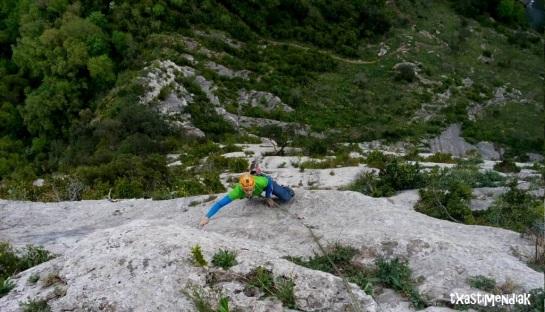 Disfrutando de nuestro regreso a la roca...