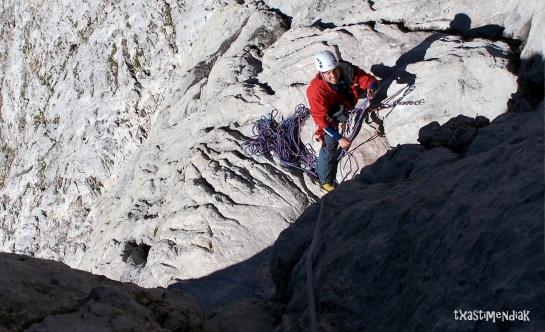 Patxi Peña durante otra incursión al Picu