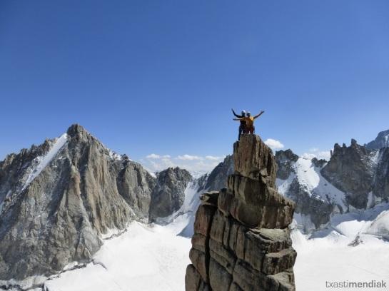 La cima del Tridente de Tacul...no comments!!