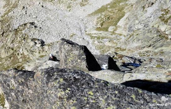 Ganando metros hasta alcanzar la cresta cimera...