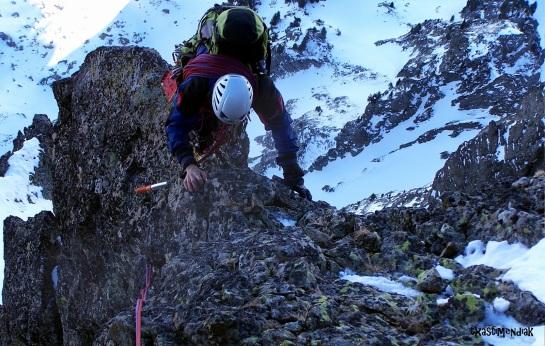 Zona de mixto fácil antes de alcanzar las rampas que conducen a la cima...