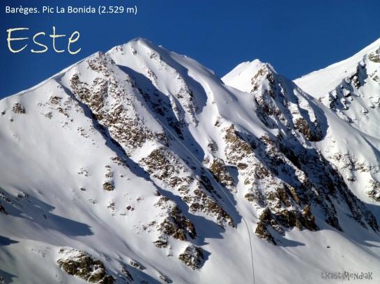 El Pic de La Bonida visto desde la aproximación al Pic Allemand en 2015