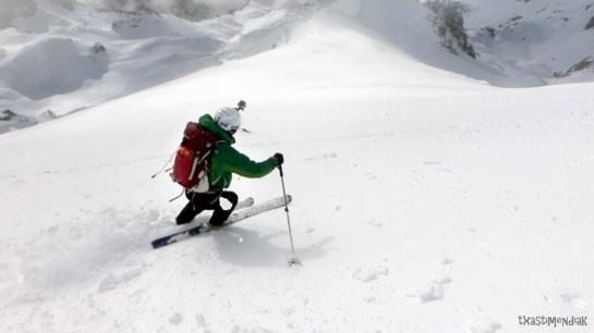 Condiciones perfectas en la primera parte del descenso...