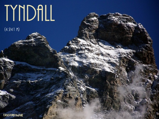 El pico Tyndal, a medio camino del Cervino