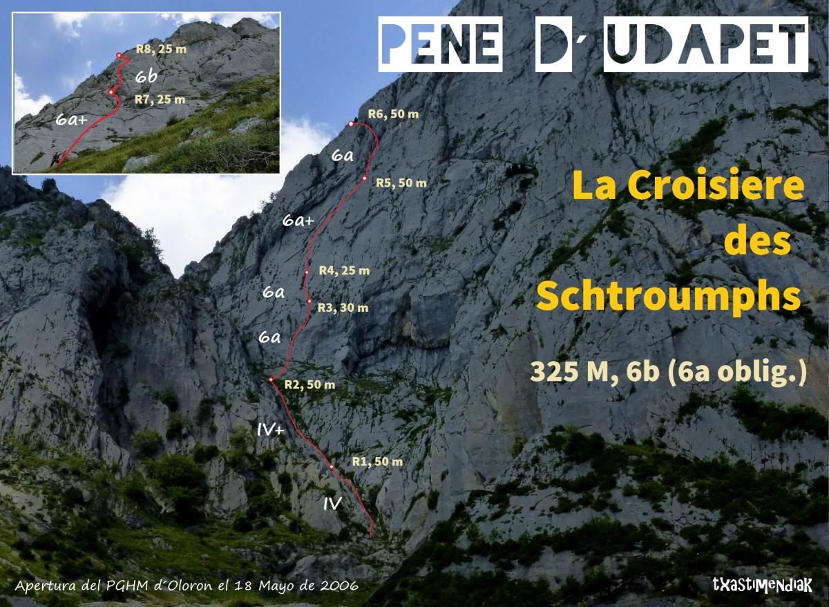 """Pene D´Udapet (1.913 m), vía """"La Croisiere des Schtroumphs"""""""