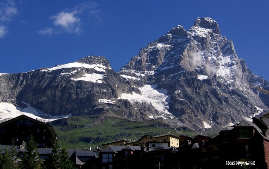 Cervinia, a los pies del coloso alpino...
