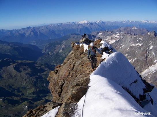 Cresta hacia el cervino en el Pico Tyndall