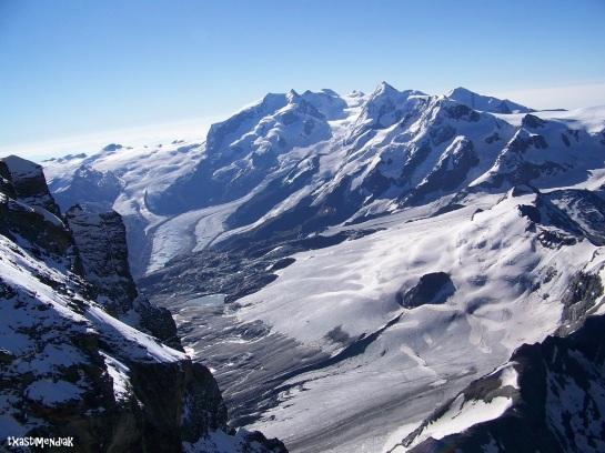 Vistas al macizo del Monte Rosa