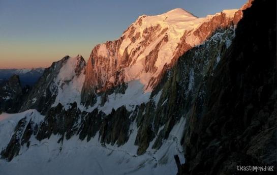 Amanecer con vistas al Mont Blanc!